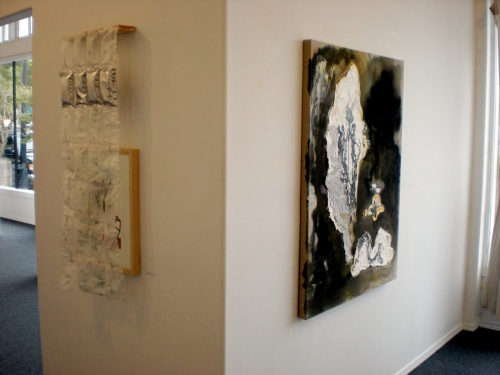 Work by John Brodie (left) and Kristan Kennedy (right)