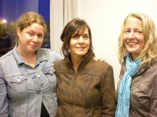 Kristan, Teryl and Sarah enjoy the opening